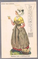 Manteiga E Leite -- Beurre Et Lait Normand . J . Lepelletier . Antigos Trajos Normandos . - Publicité
