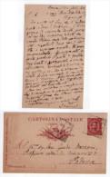 Luigi Morandi. Intero Postale Manoscritto E Firmato Spedito A Guido Mazzoni. 1891 - Autographes