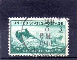 USA164 - STATI UNITI 1945 GUARDIA COSTIERA - Oblitérés