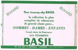 Buvard Publicitaire Confection - Vêtement BASIL à Amiens (Somme) - Blotters