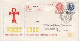 - PAYS-BAS / NEDERLAND - Lettre Recommandée ARNHEM Pour VELP 18 JULI 1960 - WORLD MENTAL HEALTH YEAR - Santé Mentale - - 1949-1980 (Juliana)