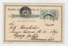 Brazil/Germany UPRATED POSTAL CARD 1921 - Brazil