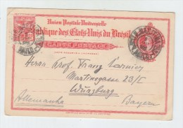 Brazil/Germany UPRATED POSTAL CARD 1922 - Brazil