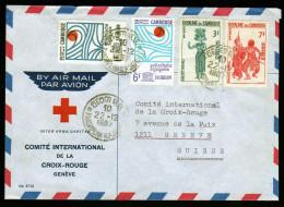 Cambodia/Cambodge Red Cross Cover  To Suisse 1967 - Cambodia