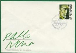Nobelpreis Prix Nobel Prize  1971 LITERATURE LITTERATURE LITERATUR - PABLO NERUDA CHILE -  POLAND POLEN 1974 MI 2352 FDC - Nobelpreisträger