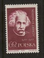 PRIX NOBEL PRIZE NOBELPREIS PHYSICS LA PHYSIQUE  PHYSIK 1921 EINSTEIN POLAND POLEN POLOGNE 1959 MI 1134 MNH - Albert Einstein
