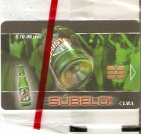 Nº 234 TARJETA DE CUBA DE LA CERVEZA CRISTAL DE TIRADA 1000  (NUEVAS-MINT) BEER - Publicidad