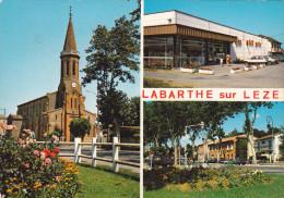 CPM  De  LABARTHE Sur LEZE  (31)  -  L'Eglise, Supérette Midi-Prix Et La Poste    //  TBE - Francia