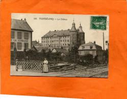 MONTBELIARD    1915  LE PASSAGE A NIVEAU DU CHATEAU    CIRC  OUI   EDITEUR - France