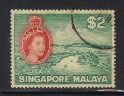 W16 - SINGAPORE , 2 Dollari N. 41 Usato - Singapore (...-1959)