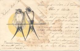HOCHZEITSREISE CPA VOYAGEE 1916 WRITTEN IN SPANISH EX COLECCION ARISTOCRATAS GUTTERO  SOLD AS IS RARISIME PAREJA COUPLE - Koppels