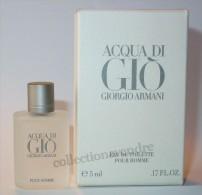 ARMANI Miniature De Collection: Acqua Di Gio, Eau De Toilette, Grande Boite, Parfait état - Miniatures Hommes (avec Boite)