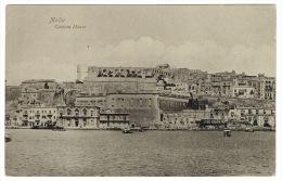 RB 992 - Early Postcard -  Custom House Valletta Malta - Malta