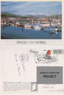 Car1096 Dingle Peninsula, Kerry, Irlanda Porto Harbour Port, Barca Boat Pesca Francobollo Tematica Uccelli Pettirosso - Kerry