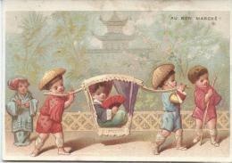 Promenade En Palenquin/ Chine/ Boucicaut & Fils/ Testu & Massin/ Paris/ Vers 1880-85    IM759 - Au Bon Marché