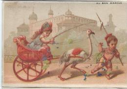 Carriole à Autruche/  Boucicaut & Fils/ Testu & Massin/ Paris/ Vers 1880-85    IM760 - Au Bon Marché