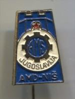 AMS - Auto Moto Federation, Yugoslavia, Nis, Badge, Pin - Pin's