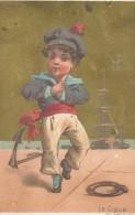 La Gigue/  Chromo à Fond Doré/Boucicaut & Fils/ Testu & Massin/ Paris/ Vers 1880-85    IM766 - Au Bon Marché