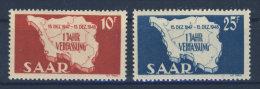 Saar Michel No. 260 - 261 ** postfrisch