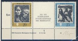 DDR Michel No. 1680 - 1681 ** postfrisch DV Druckvermerk