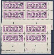DDR Dienst Gruppe B Michel No. 8 - 9 ** postfrisch Viererblock Eckrand