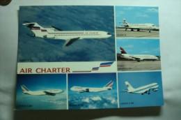 Avion - Flotte Utilisée Par Air Charter, Filiale D'air France Et D'air Inter - Super 10, Boeing B-737, 727, 747, Airbus - 1946-....: Moderne