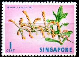 SINGAPORE 1962 Orchid - 1c Arachnis Maggie Oei  MH - Singapour (1959-...)
