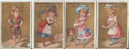 4 Chromos Ibled / à Fond Doré/ Les Mois /Janvier-juillet-Octobre-Novembre/ Vers 1880-85    IM775 - Ibled