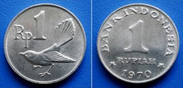INDONESIA 1 Rupiah 1970 - FANTAIL FLYCATCHER