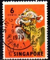 SINGAPORE 1968 6c  Lion Dance  FU - Singapour (1959-...)