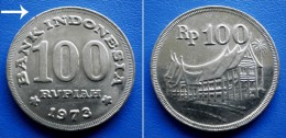 INDONESIA 100 Rupiah 1973 - OLD HOUSE
