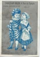 Chromo Ibled / à Fond Argenté/Marinette & Gros René/ Baster & Vieillemard/ /Mondicourt/Paris /Vers 1880-85 IM776 - Ibled