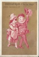 Chromo Ibled / à Fond Doré/En Route Pour Le Bal / Baster & Vieillemard/ /Mondicourt/Paris /Vers 1880-85 IM779 - Ibled