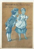 Chromo Ibled / à Fond Doré/Les Fourberies De Scapin / Baster & Vieillemard/ /Mondicourt/Paris /Vers 1880-85 IM780 - Ibled