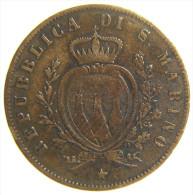 SAN MARINO 5 CENTESIMI 1864 - San Marino