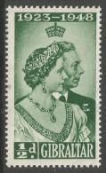 Gibraltar. 1948 Royal Silver Wedding. ½d MH. SG134. - Gibraltar