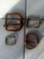 Lot De 4 Boucles De Ceinture Et Ou Chaussure Epoque Diverses Detecting Find - Belts & Buckles
