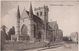 R :  Calvados :  DIVES  Sur  MER  : Vue  église   Et  Ane - Dives