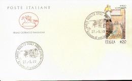 1989 BUSTA CON ANNULLO FDC Folclore. 8ª Serie. Infiorate Di Spello (Perugia). - Feste