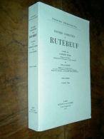 """"""" OEUVRES COMPLETES De RUTEBEUF """" Publiées Par Edmond FARAL Et Julia BASTIN  T.1  1977 Moyen-âge Littérature - Libri, Riviste, Fumetti"""
