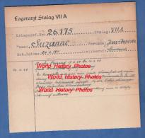Fiche Ancienne - STALAG VII A - Prisonnier Jean Baptiste SUZANNE De SARE Pyrénées-Atlantiques - 9e BCP- WW2 Chasseurs - 1939-45