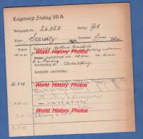 Fiche Ancienne - STALAG VII A - Prisonnier Louis SEEWITZ De MAROLLES Les BAILLY ( Aube ) - 146e R.I.F. - WW2 - 1939-45