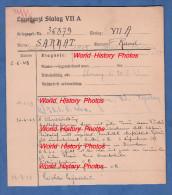 Fiche Ancienne - STALAG VII A - Prisonnier Raoul SARRAT De Bordeaux - 171e R.I.F. - WW2 - 1939-45