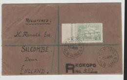 PNG016a/ Kokopo, Einschreiben 29.1.1929. England 1 Sh (lettre, Letter. Cover, Brief) - Papouasie-Nouvelle-Guinée