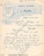 49 848 SEGRE MAINE ET LOIRE 1931 Produits d espagne J. PUJOL  Conserves Biscuits rue de la Gare � CONSUL GENERAL NANTES