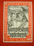 """Farbige Propaganda-Opferkarte """"Mainfränkischer Opfertag 1940"""" Von Deutsches Reich, Gelaufen - Allemagne"""