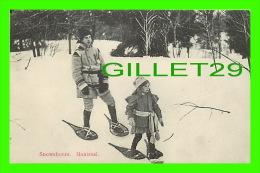 SPORTS D'HIVER - LA RAQUETTE À MONTRÉAL - SNOWSHOERS KIDS - EMILE DAVID - - Sports D'hiver