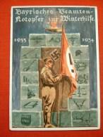 """Farbige Propagandakarte """"Bayr.Notopfer Zur Winterhilfe 1934"""" Von Deutsches Reich, Gelaufen 1944 - Allemagne"""