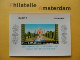 Ajman 1967, IMPERF / TADJ MAHAL: Mi 181, Bl. 14, Type B, ** - Monumenten