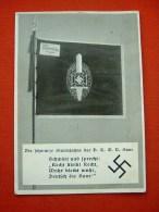 """Sw.-Propaganda-Karte """"Die Schwarze Sturmfahne - Saar 1934"""" Von Deutsches Reich, Gelaufen - Allemagne"""
